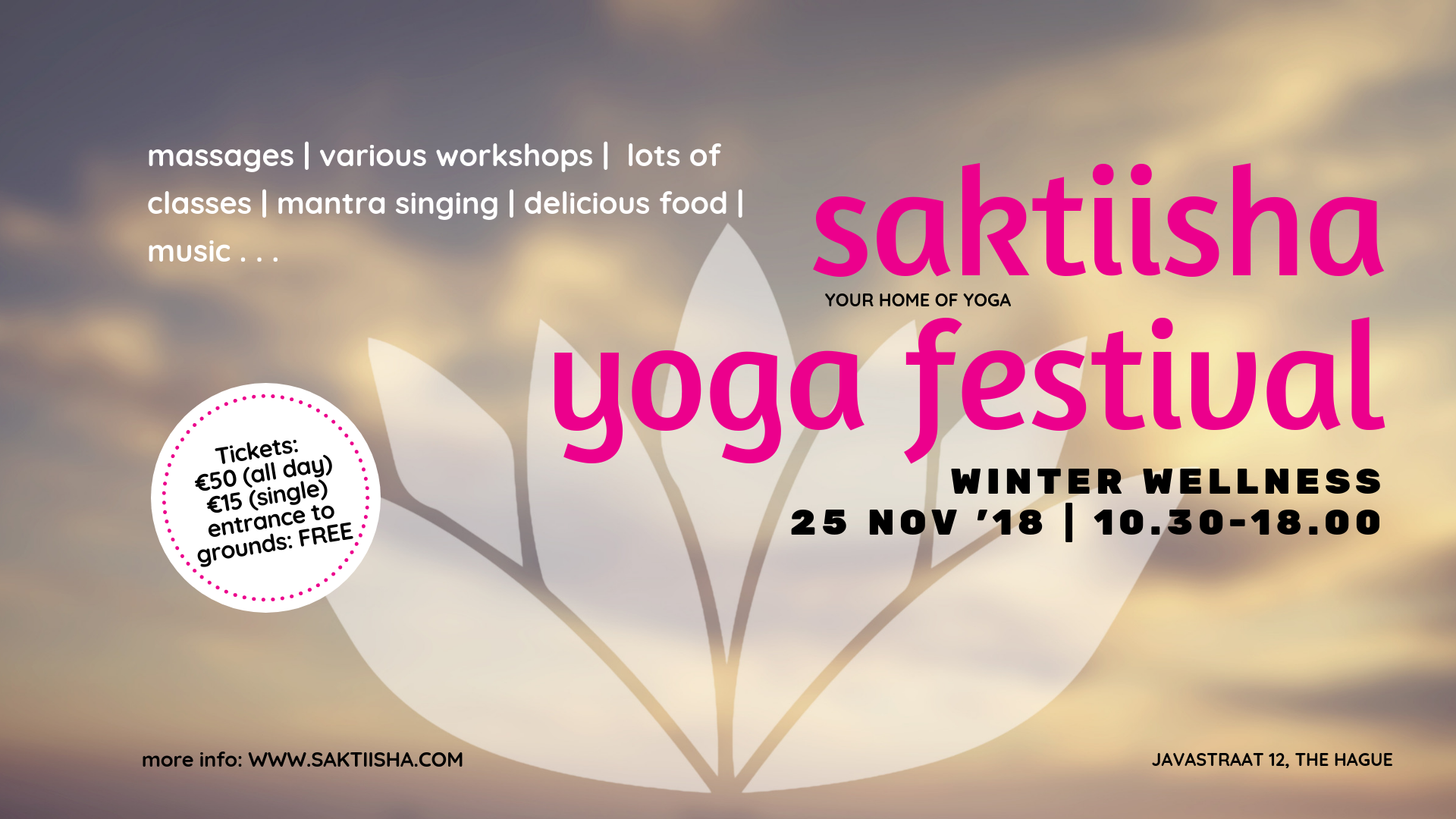 saktiisha yoga festival - winter wellness